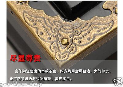 Chinese kung fu tea set purple clay tea pot gaiwan mini cup solid wood tea tray 12