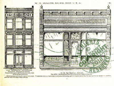 Mullins 1897 Architectural Metal Work CATALOG store fronts ornament grill vanes 9