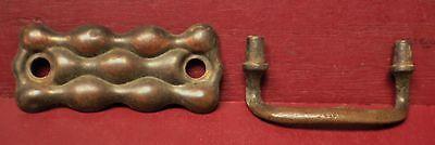3 Vintage Fancy Brass Drawer Handles Pulls #0 3