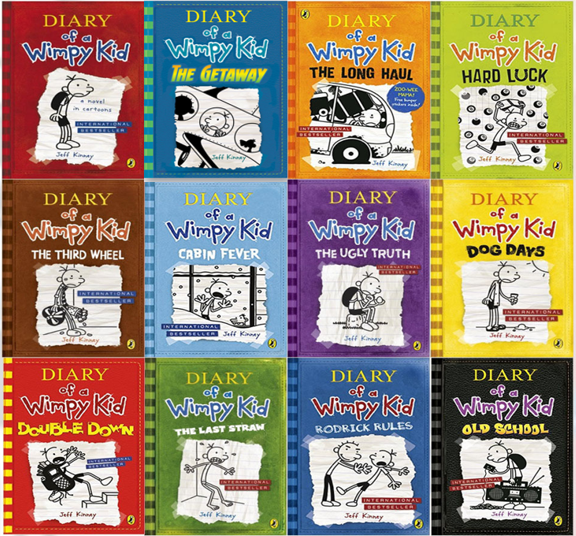 Diary of a Wimpy Kid 1-12 Series Book Collection On a CD-Disk By Jeff Kinney F/S 2