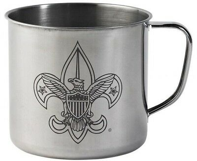 Boy Scout Cub Girl BSA Vintage Style Stainless Steel Cup 28 Ounce Soup Cereal 8