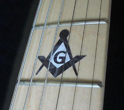 Blink 182 Tom Delonge Custom Strat BLACK PEARL+MOP Decal Inlay for BASS & GUITAR 4
