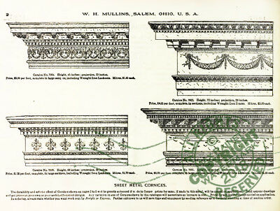 Mullins 1897 Architectural Metal Work CATALOG store fronts ornament grill vanes 3