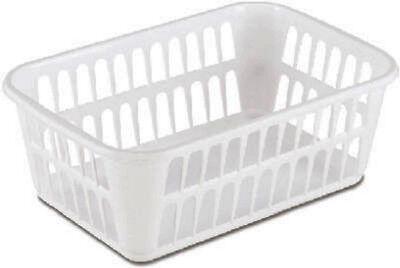 1 Of 6free Shipping 12 Sterilite 16088048 Medium White Plastic Storage Baskets 11 4 X 8