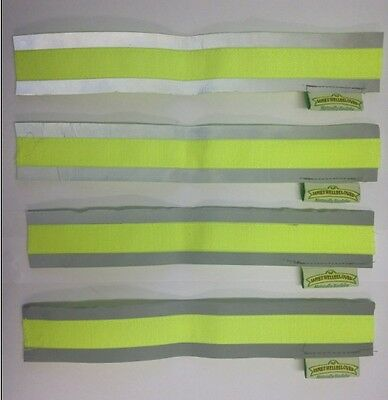 Children's Safety Reflective Hi Vis Cuffs Strips Fluorescent Protection Strap 2