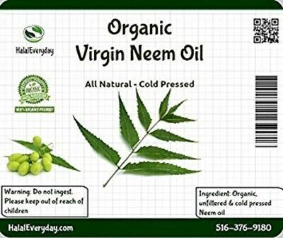 Neem Oil - PREMIUM QUALITY Organic Virgin 100% Pure Raw Unrefined COLD PRESSED 5