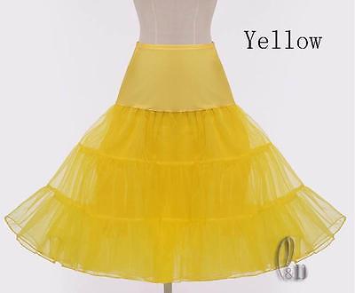 "AU SELLER 26"" Retro 50s Underskirt Rockabilly Bridal Petticoat Dance Tutu da018 10"