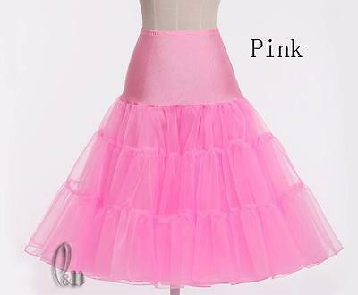 "AU SELLER 26"" Retro 50s Underskirt Rockabilly Bridal Petticoat Dance Tutu da018 8"