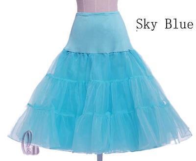 "AU SELLER 26"" Retro 50s Underskirt Rockabilly Bridal Petticoat Dance Tutu da018 11"