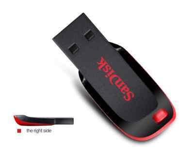 Clé USB 8 Go SanDisk CZ50 Cruzer Blade USB 2.0 Memory Stick Lecteur Flash Disk 8