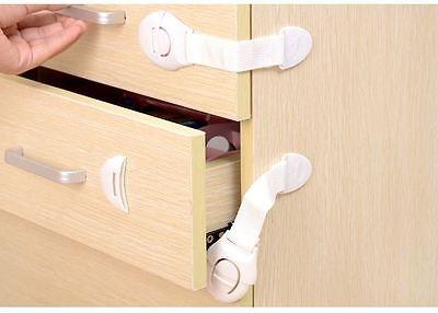 Bébé Enfants Sécurité Verrou Preuve Armoire Tiroir Réfrigérateur Porte 9