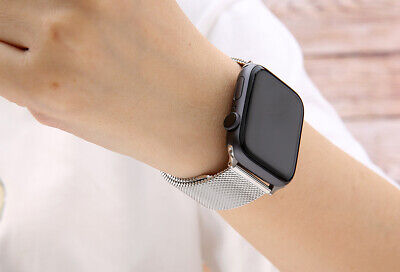 【Apple watch】Series 5 4 3 2 1 Milanese Magnetic Stainless Loop Strap Band iwatch 7