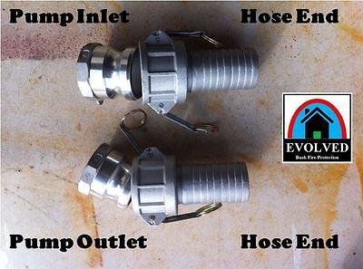 "1 1/2"" BSP 40mm Camlock Set Fire Pump Irrigation Fitting C40GPAACC"