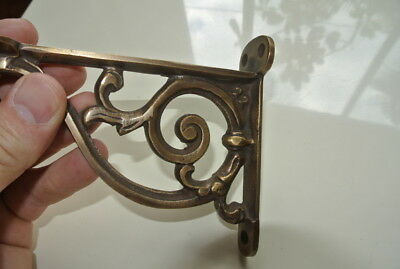 "small 9"" Bracket solid solid brass antique look 22 cm heavy old style vintage B 4"