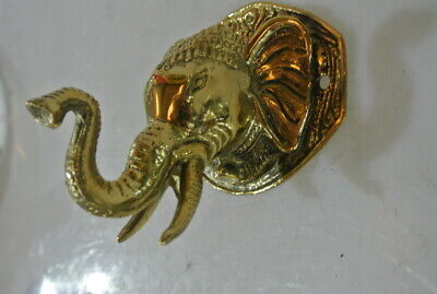 """ELEPHANT trunk up pull SOLID polished BRASS old style Handle hook 4 """" door B 4"""