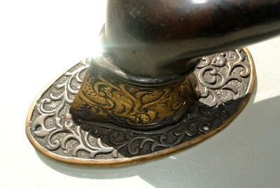 exquisite large Buddha Pull handle Finger brass door antique style HAND 25cm B 7