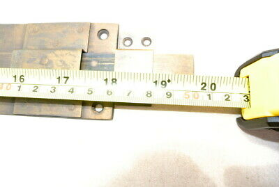 "2 long flush BOLT french aged style doors 18 "" heavy solid brass slide 47cm B 9"