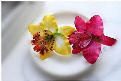 2 x Fermagli per capelli da sposa orchidea per accessori da ragazza femminile