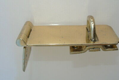 """box catch hasp latch vintage style house DOOR POLISHED heavy rectangle 4.1/4"""" B 4"""