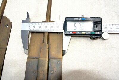 "2 long flush BOLT french aged style doors 18 "" heavy solid brass slide 47cm B 6"