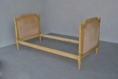 lit ancien laqu peint de style louis xvi eur 890 00 picclick fr. Black Bedroom Furniture Sets. Home Design Ideas