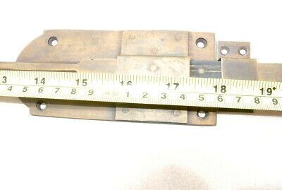 "2 long flush BOLT french aged style doors 18 "" heavy solid brass slide 47cm B 8"