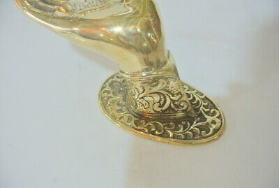 2 exquisite large Buddha Pull handle Finger door polished brass HAND 20cm hook B 7