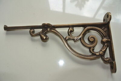 "small 9"" Bracket solid solid brass antique look 22 cm heavy old style vintage B 5"