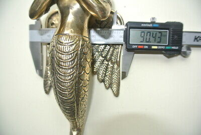 """praying Dewi brass door antique polished old style house PULL handle 12"""" wingB 8"""