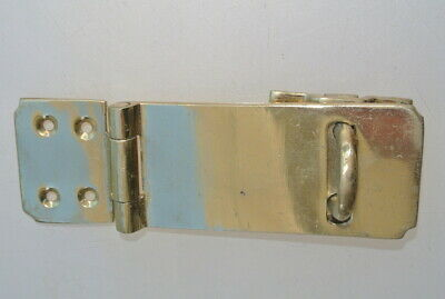 """box catch hasp latch vintage style house DOOR POLISHED heavy rectangle 4.1/4"""" B 3"""