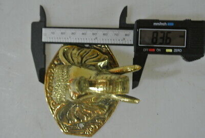 """ELEPHANT trunk up pull SOLID polished BRASS old style Handle hook 4 """" door B 6"""