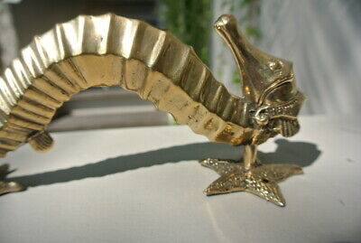 """SEAHORSE STAR 26cm brass door polished old style PULL grab handle 10"""" gate B 9"""