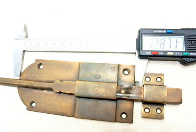 "2 long flush BOLT french aged style doors 18 "" heavy solid brass slide 47cm B 7"