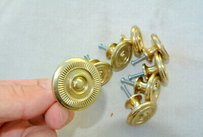 8 small knob pulls handle door old style polished drops knobs Key Hole heay 34mm 5