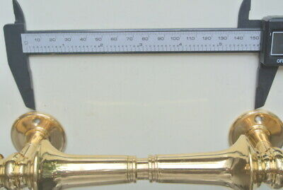 """4 large 30cm DOOR handle pull solid 2 SPUN polished brass old style hollow 12 """"B 9"""