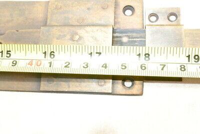 "2 long flush BOLT french aged style doors 18 "" heavy solid brass slide 47cm B 10"