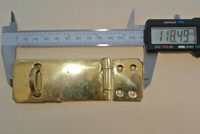 """box catch hasp latch vintage style house DOOR POLISHED heavy rectangle 4.1/4"""" B 7"""