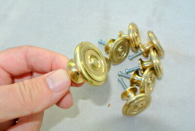 8 small knob pulls handle door old style polished drops knobs Key Hole heay 34mm 3