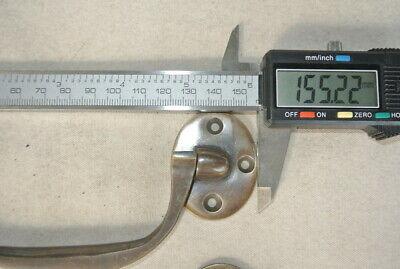 "4 heavy handle PULL Bale solid Brass kitchen BOX DOOR 15cm aged vintage 6"" B 9"