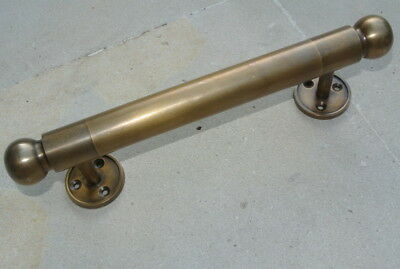 "2 DOOR handle pull solid brass Hollow old vintage aged brass retro style 10"" B 11"