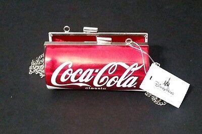 COCA-COLA CLASSIC RED CAN CROSSBODY,PURSE BAG Clutch Purse Silver  Coke Chain