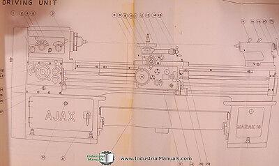 hercules ajax, mazak 18 lathe, operations and parts list manual 2