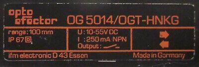 OGP-HPKG//US100 NEU IFM Reflexlichtschranke DC PNP Typ OGP201