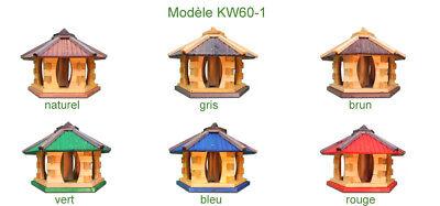 Mangeoire d'oiseaux mangeoires à oiseaux mangeoire avec le support bois jardin 12