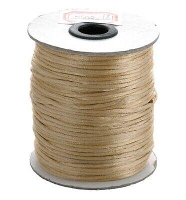 2mm Satin Rattail Cord Shamballa Nylon Macrame Kumihimo String 6