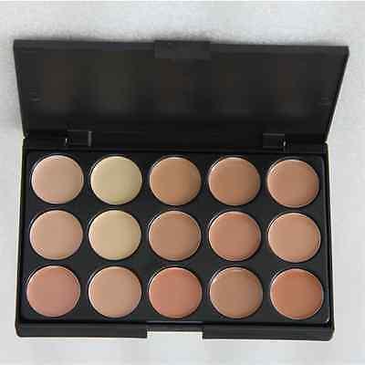 15 colors Concealer foundation palette face contour makeup set cream, & brush S2 2
