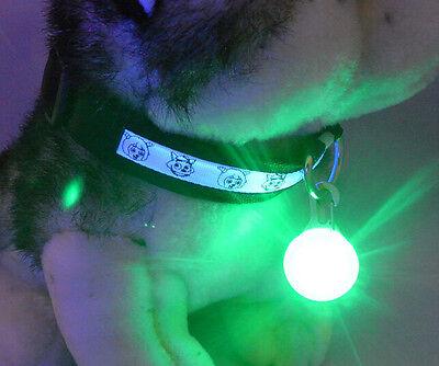 Mini Pet Dog Cat Puppy LED Flashing Collar Safety Night Light Keyring Pendant 5