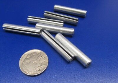"""Zinc Plate Steel Slotted Roll Spring Pin, 1/4"""" Dia x 1 3/8"""" Length, 100 pcs 8"""