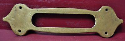 Authentic Antique Cast Brass Mail Slot & Inside Trim Plate W/original Screws #1 6