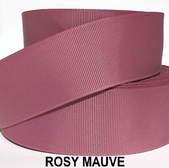 "3/8"" 5/8"" 7/8"" 1.5"" Grosgrain Ribbon 4 Yards of 1 Color Solid Bulk Wholesale 4"